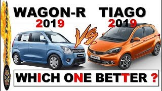 MARUTI WAGON R 2019 VS TATA TIAGO WHICH ONE BETTER ? WAGON R VS TIAGO HINDI
