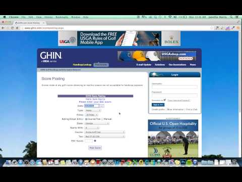 How to Post a Score to GHIN.com - Golf Handicap Posting