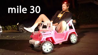 Driving A Barbie Jeep 24 Hours Straight