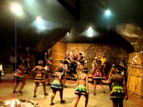 Beautiful Dance Group From Motseng Cultural Village, Sun City South Africa