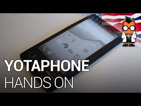 YotaPhone dual screen smartphone with E Ink display - Hands on and feature tour [ENG]