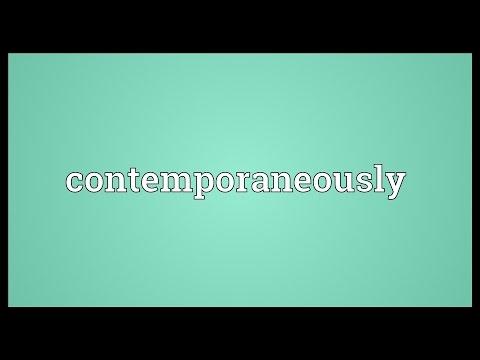 Header of contemporaneously