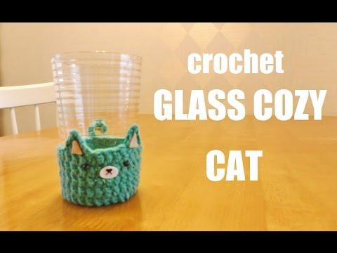 グラスの嫌な水滴にはこれ!glass cozyを編もう♪