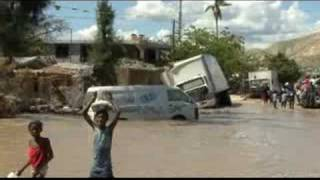 Relief By Helicopter In Haiti Ten Days After Hurricane