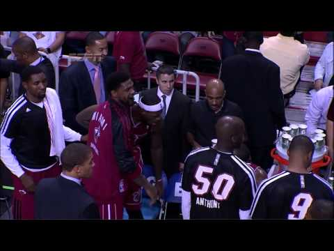 LeBron James Yells At Mario Chalmers (2013.12.18)
