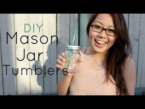 DIY Mason Jar Tumblers ♥ Make A Change May Day 10