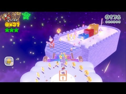 Super Mario 3D World 100% Walkthrough Part 41 - World Crown - Champion's Road