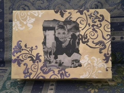 Tutorial: Decoupage su scatola in avana con stencil sfumato