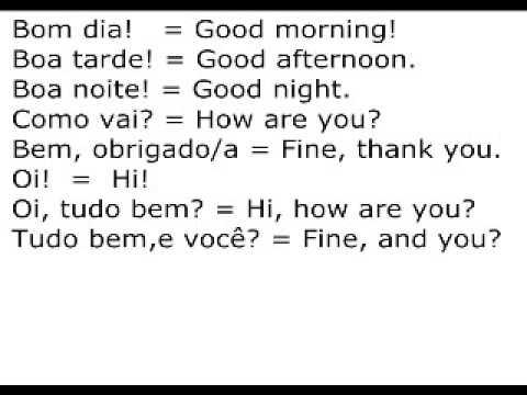 Portuguese Salutations - Rocket Languages