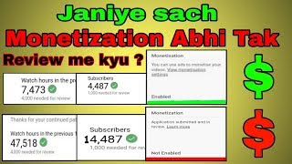 2k Subscribers 4k hours monetization enabled 30k sub 80k hours monetization Not enabled why ?
