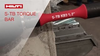 Hilti HIT-HY 200 Adhesive Anchor System & Torque Bar for KWIK BOLT® 3 - World of Concrete 2014
