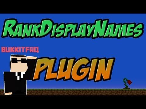 RankDisplayNames Bukkit Plugin Minecraft 1.7.10  1.8 Spigot   German    Tutorial