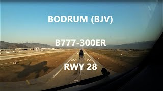 Cockpit View B777 Bodrum Landing