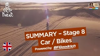 Stage 8 Summary - Car/Bike - (Uyuni / Salta) - Dakar 2017