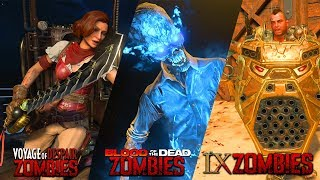BLACK OPS 4 ZOMBIES - BLOOD OF THE DEAD, VOYAGE OF DESPAIR, & IX ZOMBIES GAMEPLAY! (COD BO4)