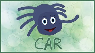 ItsyBits - Car | Baby Spider Drawing on a Web | Itsy Bitsy Spider Kids/Nursery Song