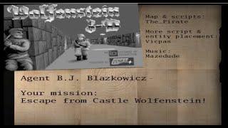 Return to castle Wolfenstein // Wolfenstein 3D E1M1 map //