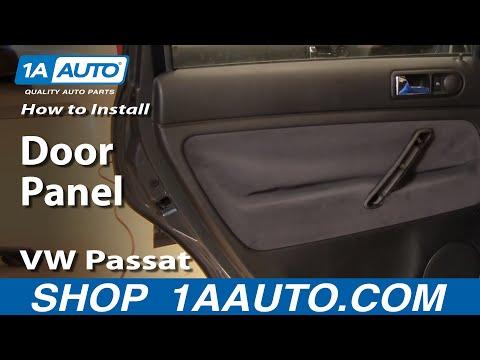 How to Install Replace Rear Door Panel VW Passat 98-01 1AAuto.com