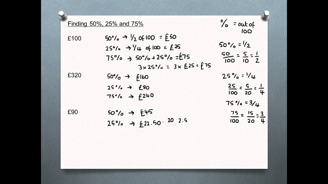 Percentages Without Using
