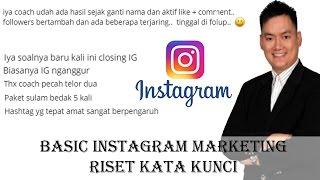 Basic Instagram Marketing - Riset Kata Kunci 1