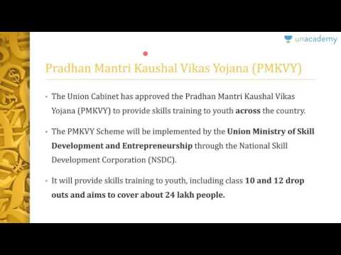 Unacademy UPSC: Government Flagship Programmes: Skill India Mission