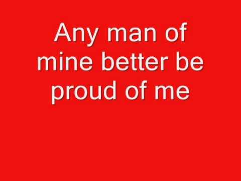 Any Man of Mine with lyrics