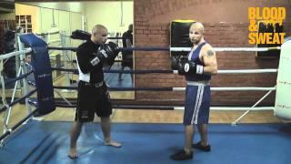 Бокс. Мастер-класс - атака первым номером. Boxing. Attacking style of boxing.
