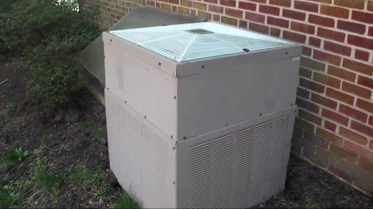 Really Old General Electric Central Air Conditioner Youtube