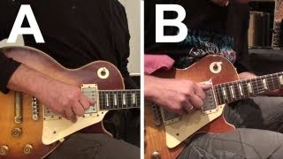 A/B Comparing 1974 Les Paul Custom (Haeussel 1959 Pickups) to 1960 Les Paul Standard