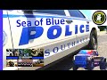 Southaven MS Sea of Blue for Officer killed in Line of Duty