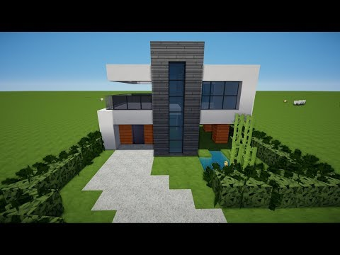 MINECRAFT HAUS American Style Bauen TUTORIAL German - Minecraft hauser bauen tutorial deutsch