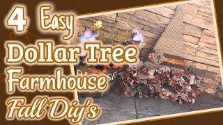 4 EASY DOLLAR TREE FARMHOUSE Fall DIY's   DIY Dollar Tree Fall Decor