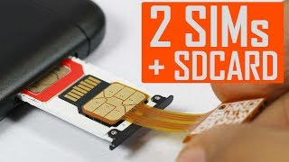 How To Use Both 2 SIM With SD CARD with Hybrid SIM Slot Adapter!😎