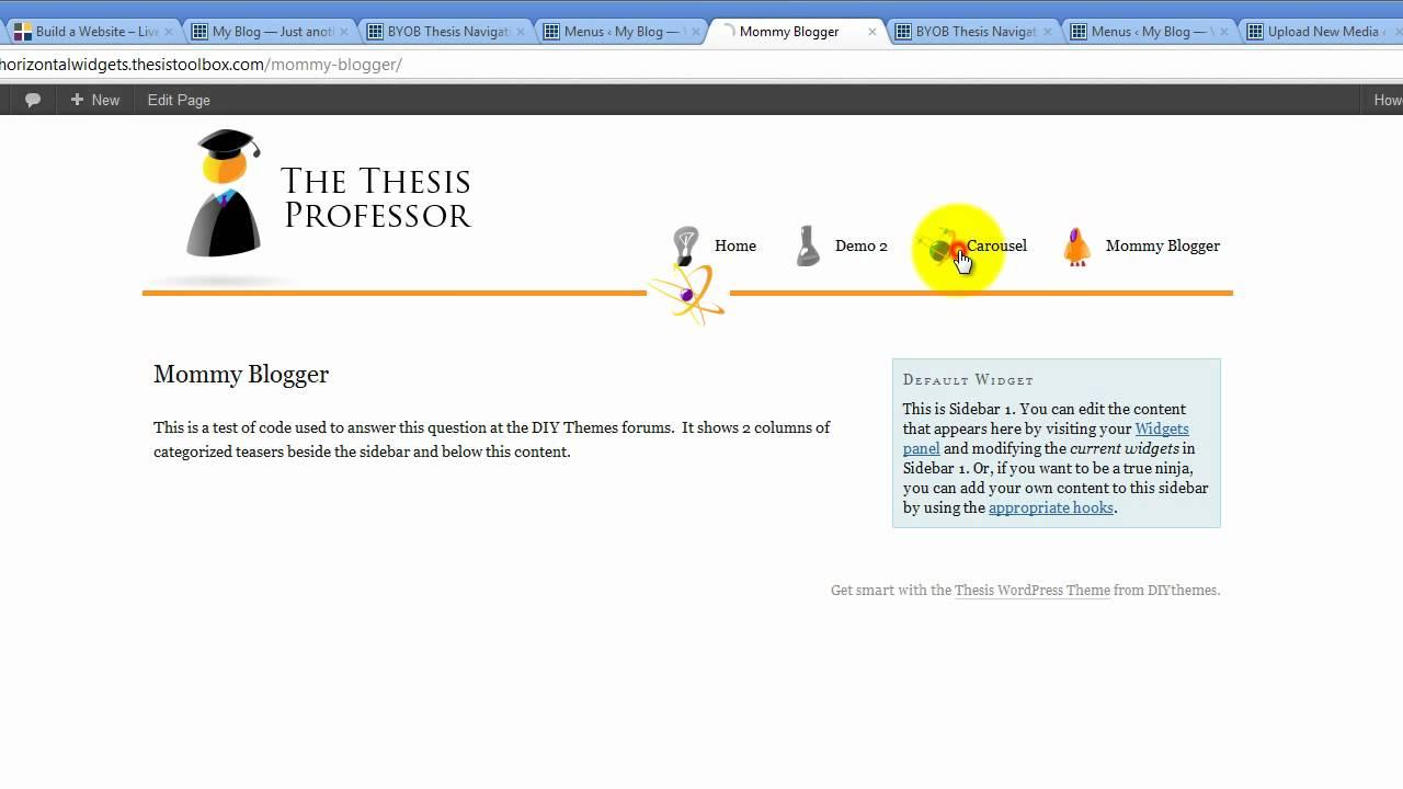 Styling Thesis & WordPress Nav Menus