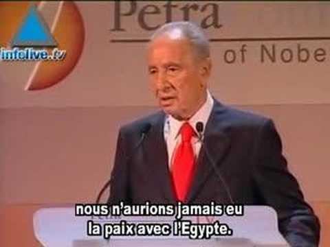 Petra: violente altercation entre Shimon Peres et Amr Moussa