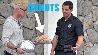 COP PRANKED with DONUT MAGIC TRICK!!!