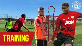 Training | Pogba and Bruno practice free kicks together 👀| Manchester United