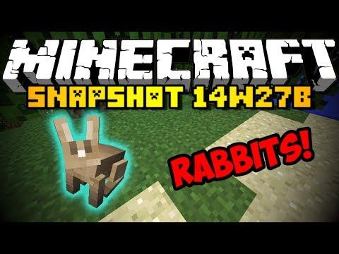 Minecraft Snapshot 14w27b RABBITS NEW FOODS MORE HD