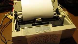 Imperial March on Dot Matrix Printer