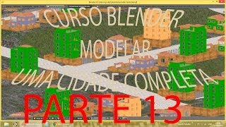 PARTE 13 #TEXTURIZAR TERRENO\ Criar Cidade Inteira No Blender   PT-BR - HD