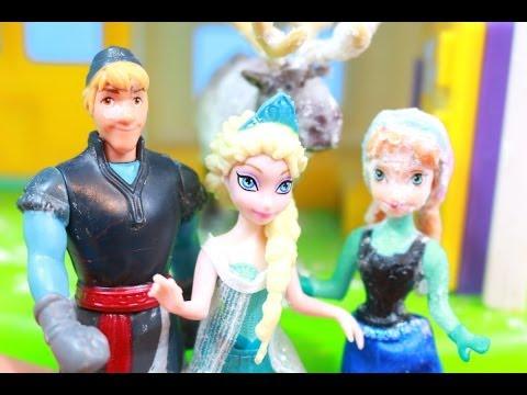 APRIL FOOLS Prank Disney Frozen Elsa & Princess Anna Prank Kristoff Doll Sven