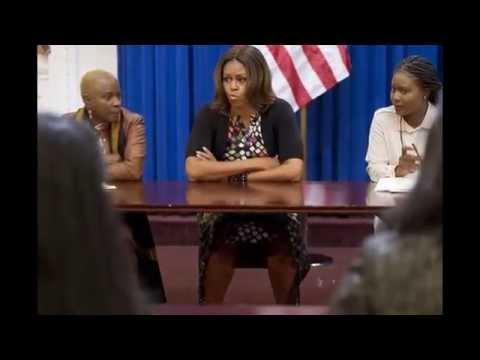Michelle Obama hosts talk on girls' education... Мишель Обама хозяева говорить об ...