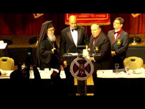 2012 Athenagoras Human Rights Award bestowed upon the Stavros Niarchos Foundation