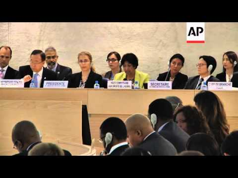 UN chief urges rights officials to lead on Syria; Syrian ambassador comment
