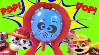 Wacky Boom Boom Balloon Wednesday with Paw Patrol! Fun Game with Toy Surprises!