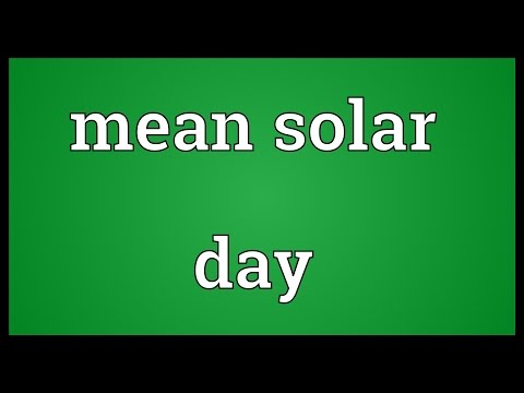 Header of mean solar day