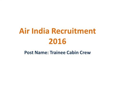 Air India Recruitment Latest Jobs Online Form