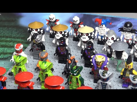 НИНДЗЯГО минифигурки LEGO NINJAGO вся коллекция Обзор