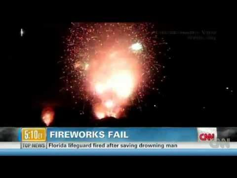 San Diego July 4th Firework Show Mishap Sets Off 18 Minutes of Fireworks in 15 Sec (July 5, 2012)