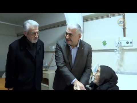 Başbakan Binali Yıldırım, Sabriye Nineyi Hastanede Ziyaret Etti